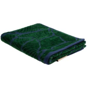 Полотенце In Leaf, малое, синее с зеленым