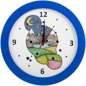 Часы настенные «Горы», синие