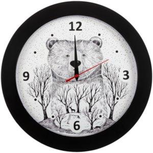 Часы настенные Bear, черные