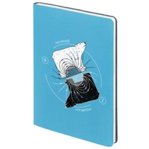 Ежедневник «Полярные медведи», недатированный, голубой