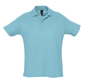 Рубашка поло мужская SUMMER 170, бирюзовая
