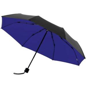 Зонт складной с защитой от УФ-лучей Sunbrella, ярко-синий с черным
