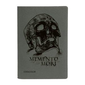 Обложка для паспорта Memento Mori, серая