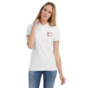 Рубашка поло женская «Разделение труда. Докторро», белая