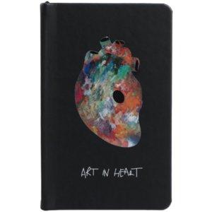 Блокнот Art In Heart, черный