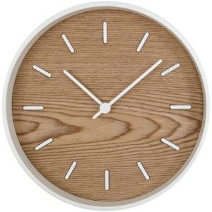 Часы настенные Kudo, беленый дуб