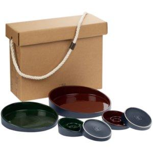 Набор Form Fluid Platter, бордово-зеленый