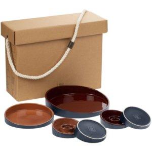 Набор Form Fluid Platter, бордово-горчичный