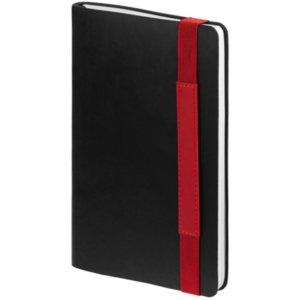 Ежедневник Runway, недатированный, черный с красным