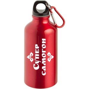 Бутылка для спорта Kuzno «Супер самогон» красная