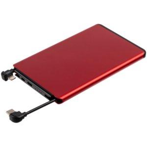 Внешний аккумулятор Double Reel 5000 мАч, красный