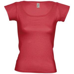 Футболка женская MELROSE 150 с глубоким вырезом, красная