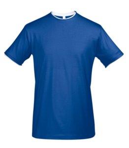 Футболка мужская с контрастной отделкой MADISON 170, ярко-синий/белый