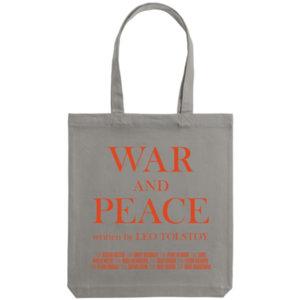 Холщовая сумка «War and Peace», серая