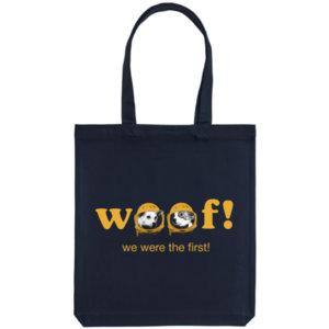 Холщовая сумка «Woof», тёмно-синяя
