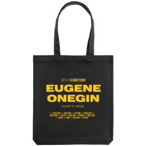 Холщовая сумка «Eugene Onegin», чёрная
