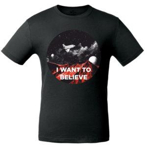 Футболка «I want to believe» , чёрная