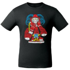 Футболка Bob Didle «Космонавт» , чёрная
