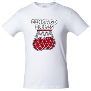 Футболка Bob Didle «Chicago balls» , белая