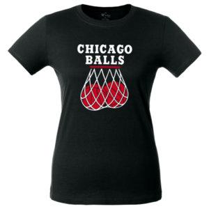 Футболка женская Bob Didle «Chicago balls», чёрная