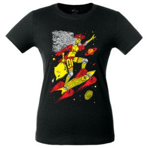 Футболка женская Bob Didle «Skate» , чёрная