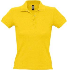 Рубашка поло женская PEOPLE 210, желтая