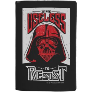 Обложка для паспорта Darth Vader, черная