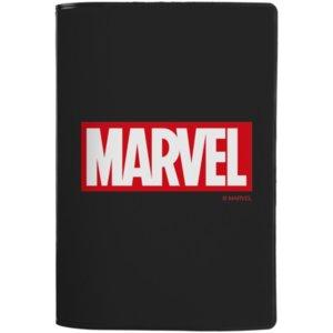 Обложка для паспорта Marvel, черная
