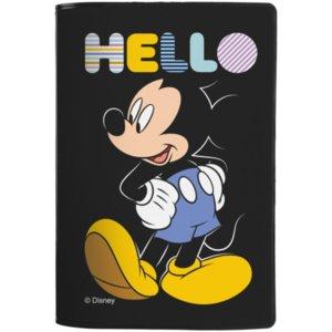 Обложка для паспорта Hello Mickey, черная