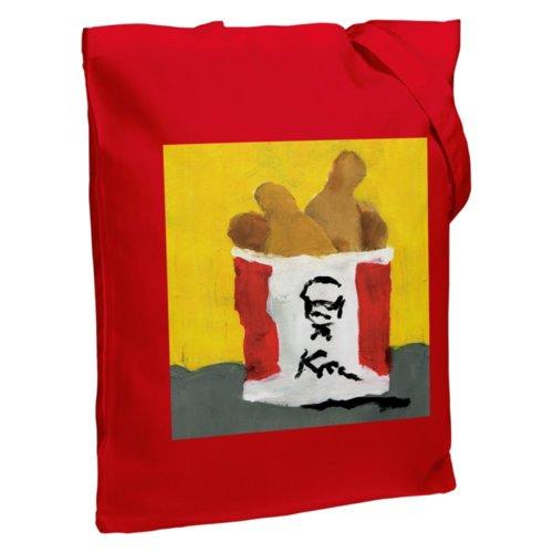 Холщовая сумка «Куриные ножки», красная