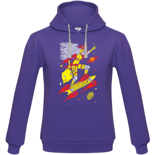Толстовка с капюшоном Bob Didle «Skate» , фиолетовая
