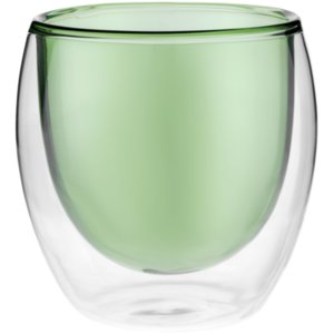 Стакан с двойными стенками Glass Bubble, зеленый