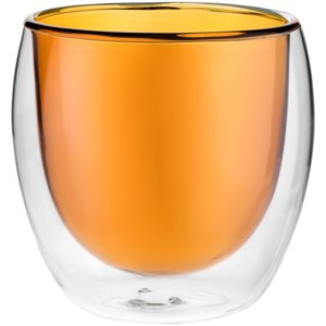 Стакан с двойными стенками Glass Bubble, желтый