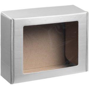 Коробка с окном Visible, серебристая, уценка