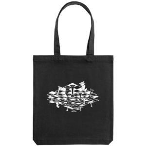 Холщовая сумка «Перевёрнутая доска», черная