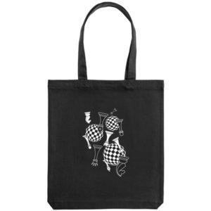 Холщовая сумка «Фигуры», черная