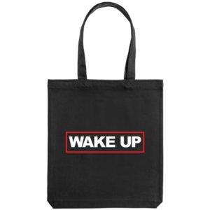 Холщовая сумка «Wake up», чёрная