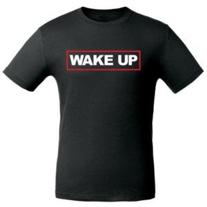 Футболка  «Wake up», чёрная