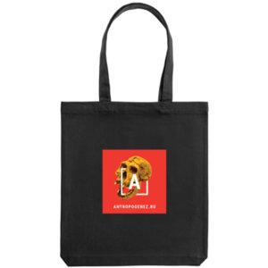 Холщовая сумка «Антропогенез», чёрная
