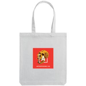 Холщовая сумка «Антропогенез», белая