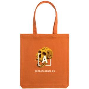Холщовая сумка «Антропогенез», оранжевая