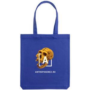 Холщовая сумка «Антропогенез», синяя