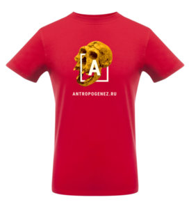 Футболка «Антропогенез», красная