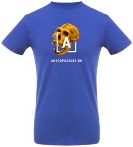 Футболка  «Антропогенез», синяя