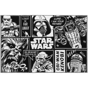 Плед Star Wars, черный с белым