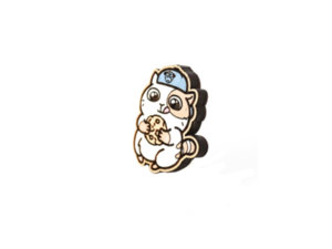 Значок «Котик с печенькой»