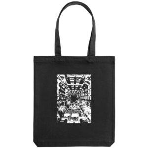 Холщовая сумка «Эти глаза напротив» , черная