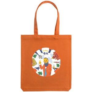 Холщовая сумка «Питер Ф.М.», оранжевая