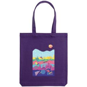Холщовая сумка «Saint Petersburg», фиолетовая