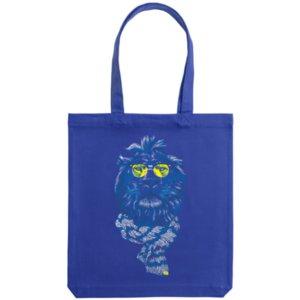 Холщовая сумка «Лев», синяя